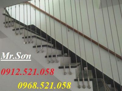 3 Cầu thang dây cáp, đẹp tinh tế.Tăng đơ ống inox D8,bộ hãm cáp inox D8,dây cáp inox,cáp bọc nhựa,rẻ.