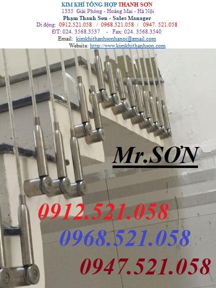 4 Cầu thang dây cáp, đẹp tinh tế.Tăng đơ ống inox D8,bộ hãm cáp inox D8,dây cáp inox,cáp bọc nhựa,rẻ.