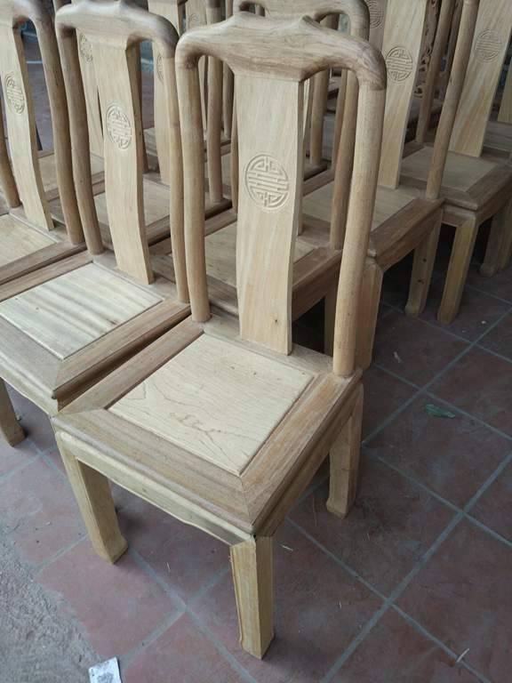 1 Bộ bàn ghế ăn kiểu bàn tròn gỗ Gụ, Bộ Bàn Ghế Ăn Tròn - gỗ sồi Nga và gỗ Xoan Đào