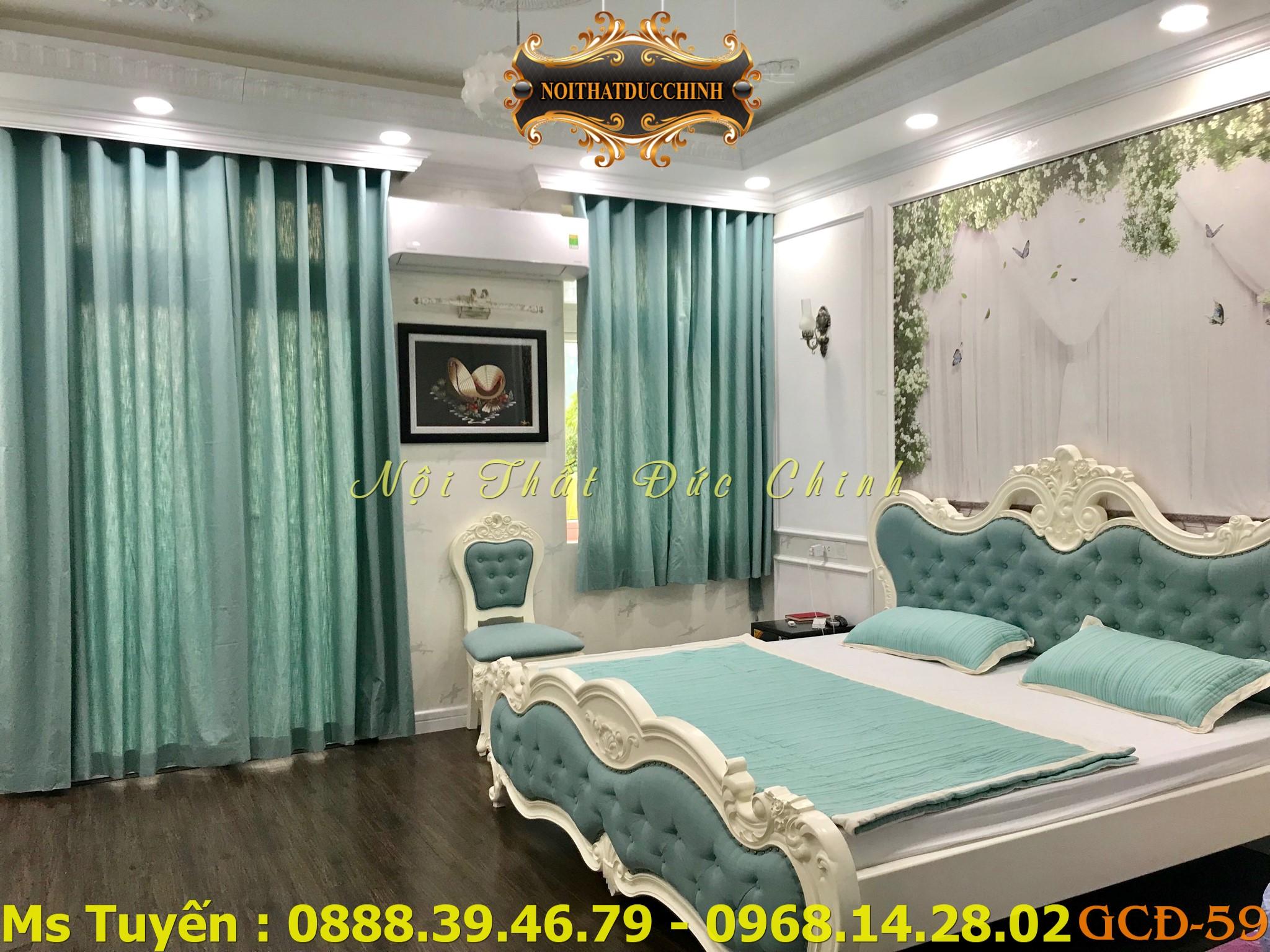12 Giường ngủ tân cổ điển giá rẻ - giường ngủ phong cách cổ điển Châu Âu q2, q7