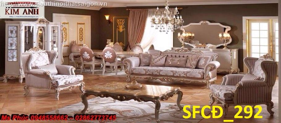 3 Rinh ngay siêu phẩm sofa tân cổ điển góc chữ l kiểu dáng châu âu quá đẹp, quá sang chảnh tại Cần Thơ