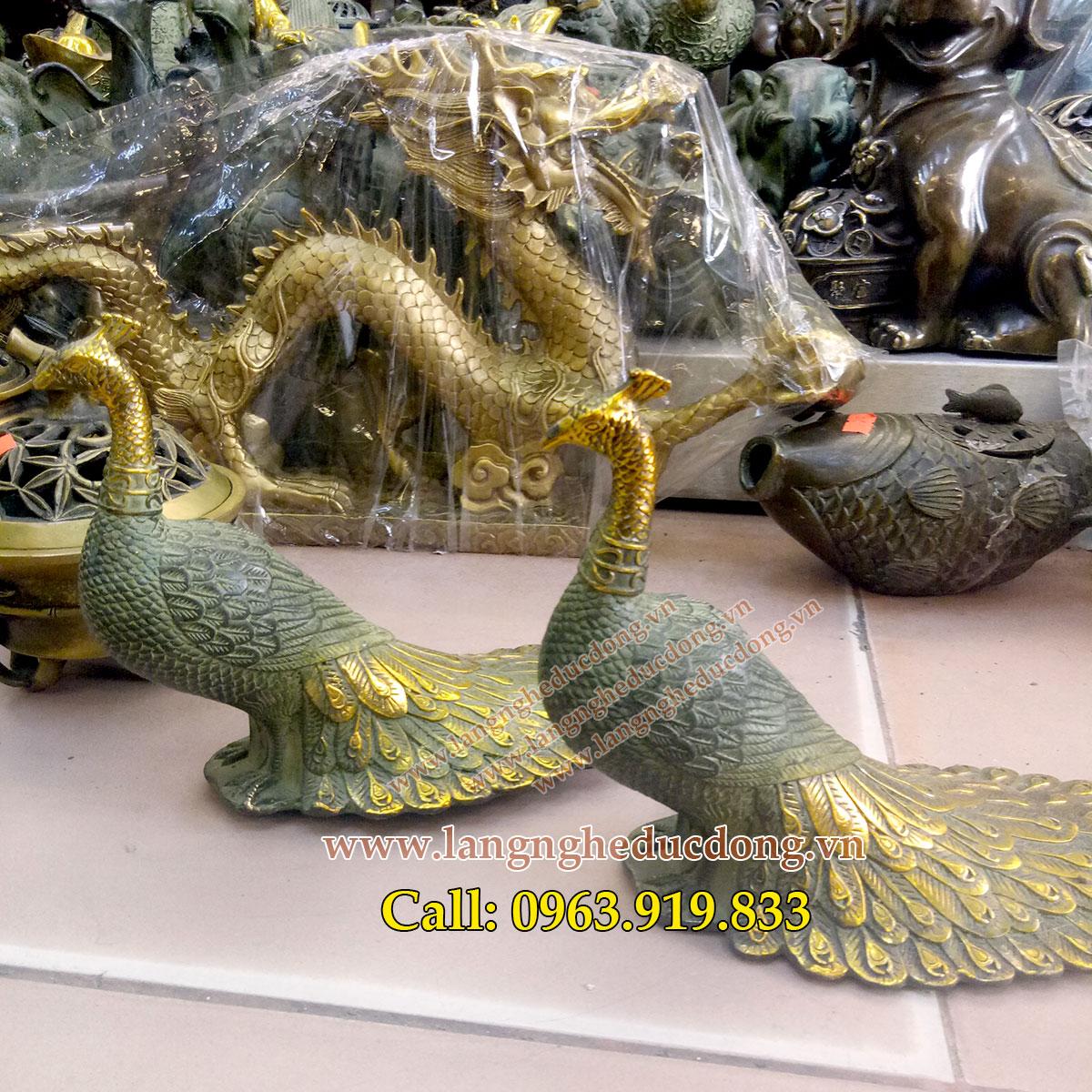 Chim công giả cổ, giá tượng chim công, bán tượng chim công