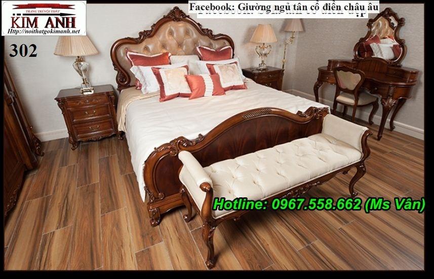 3 Giường ngủ cổ điển cao cấp - đặt mua bộ phòng ngủ phong cách hoàng gia quá xinh