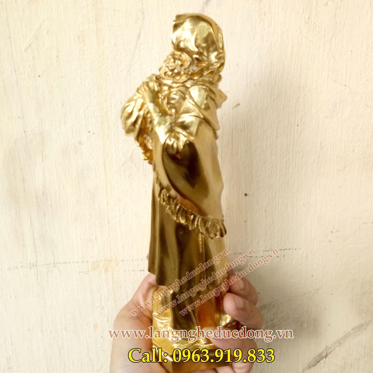 2 Tượng đức mẹ maria bằng đồng, tuong me maria, tượng thiên chúa giáo