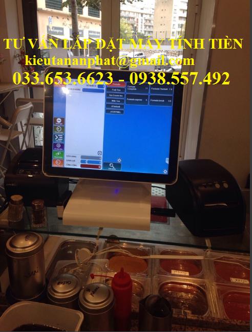 Trọn bộ máy tính tiền pos 2 màn hình cho Trà Sữa giá rẻ