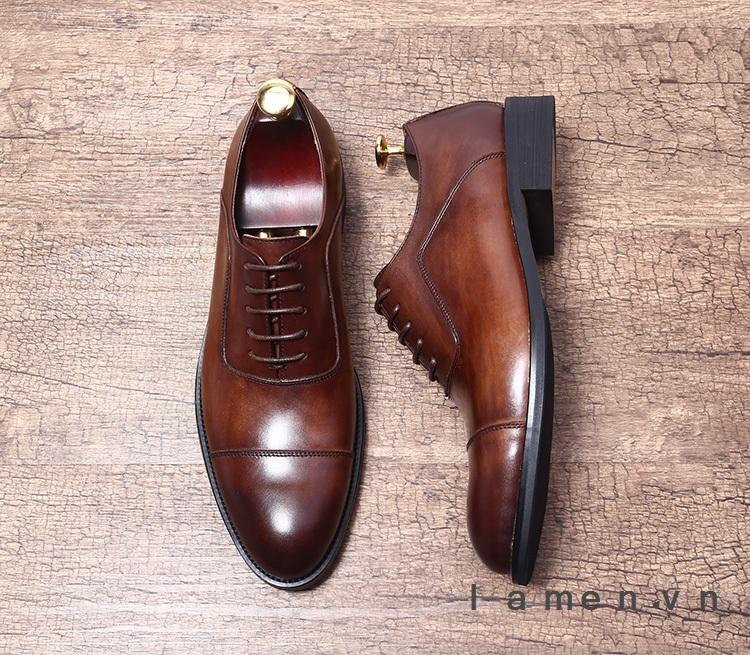 Giày buộc dây nam, giày da nam công sở cao cấp