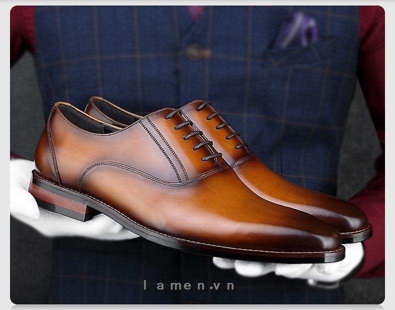 3 Giày buộc dây nam, giày da nam công sở cao cấp