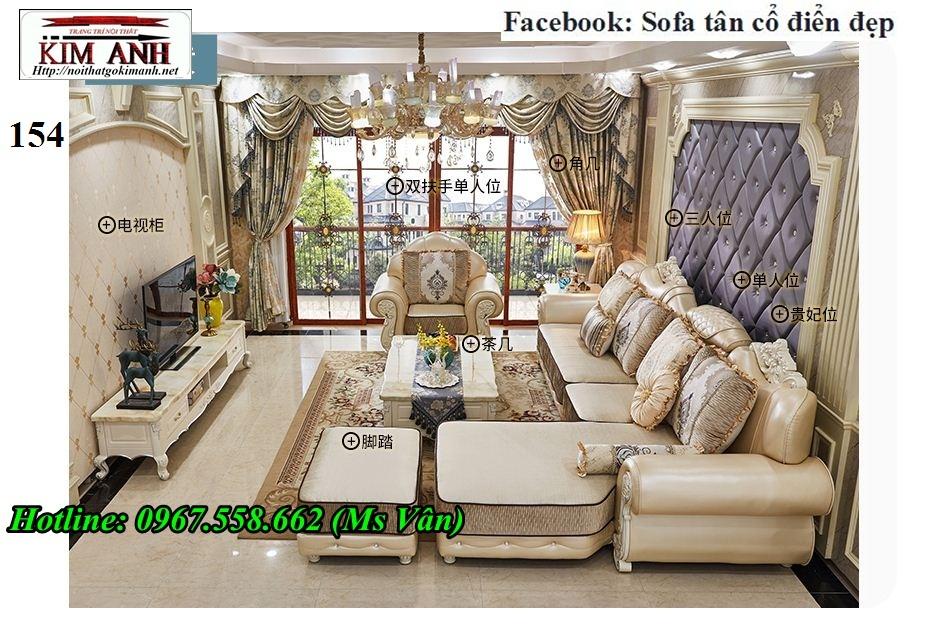 7 Xưởng sản xuất sofa tân cổ điển góc L giá rẻ giao hàng toàn quốc