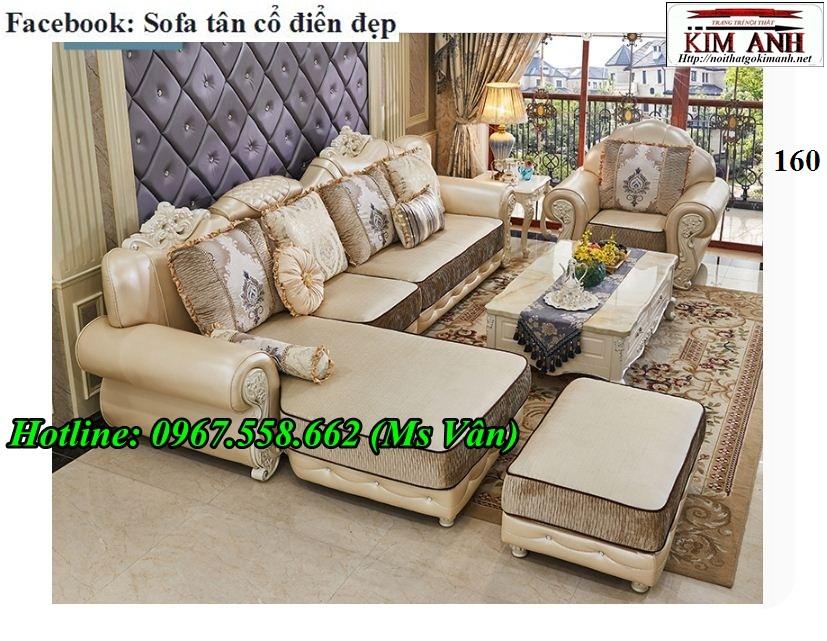 12 Xưởng sản xuất sofa tân cổ điển góc L giá rẻ giao hàng toàn quốc
