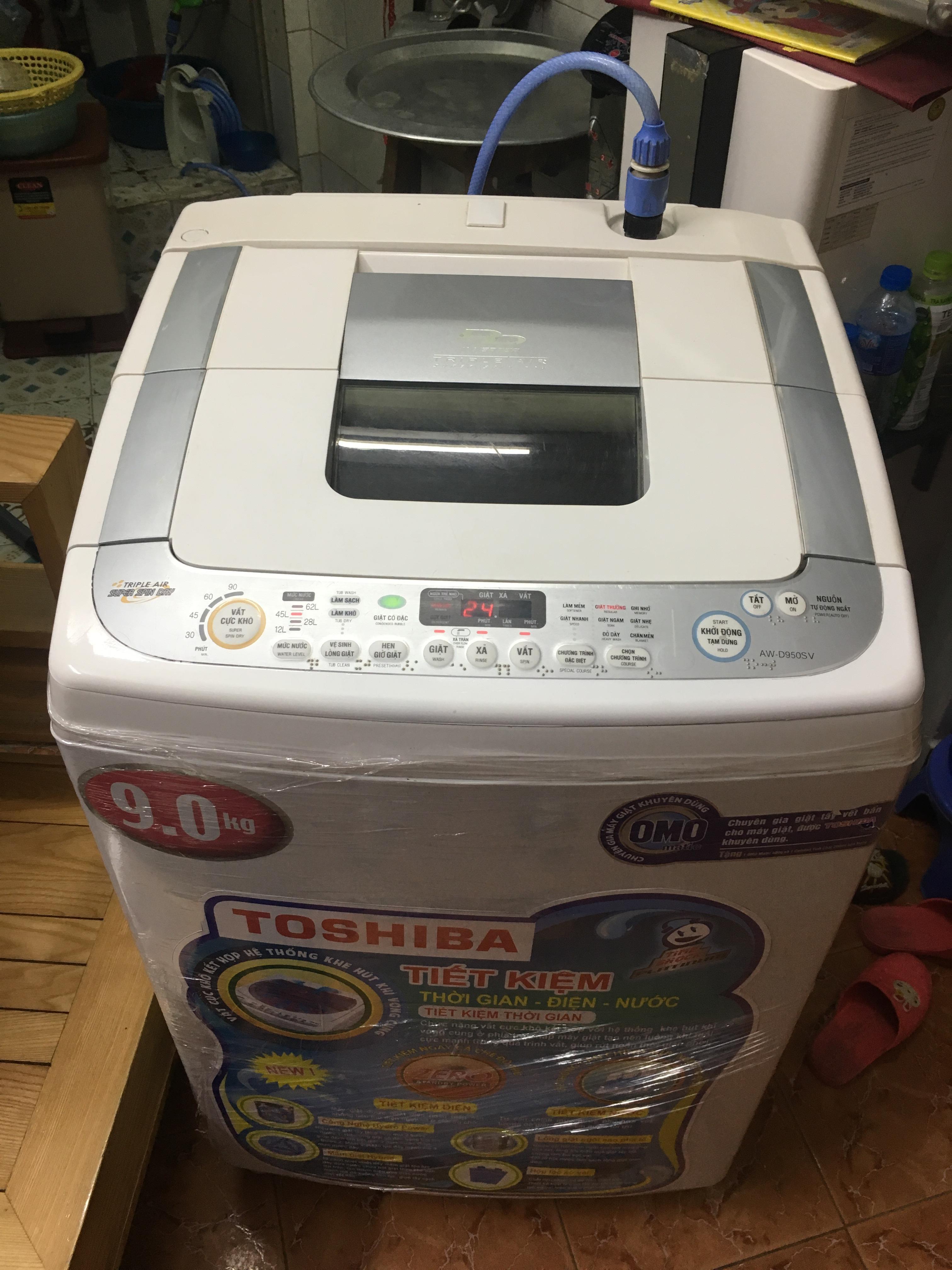 Máy giặt toshiba 9kg inveter đời cao mới 85%
