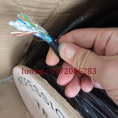 Cáp mạng outdoor Cat 5 FTP hãng TE-krone có sợi dây cường lực cáp lõi đồng
