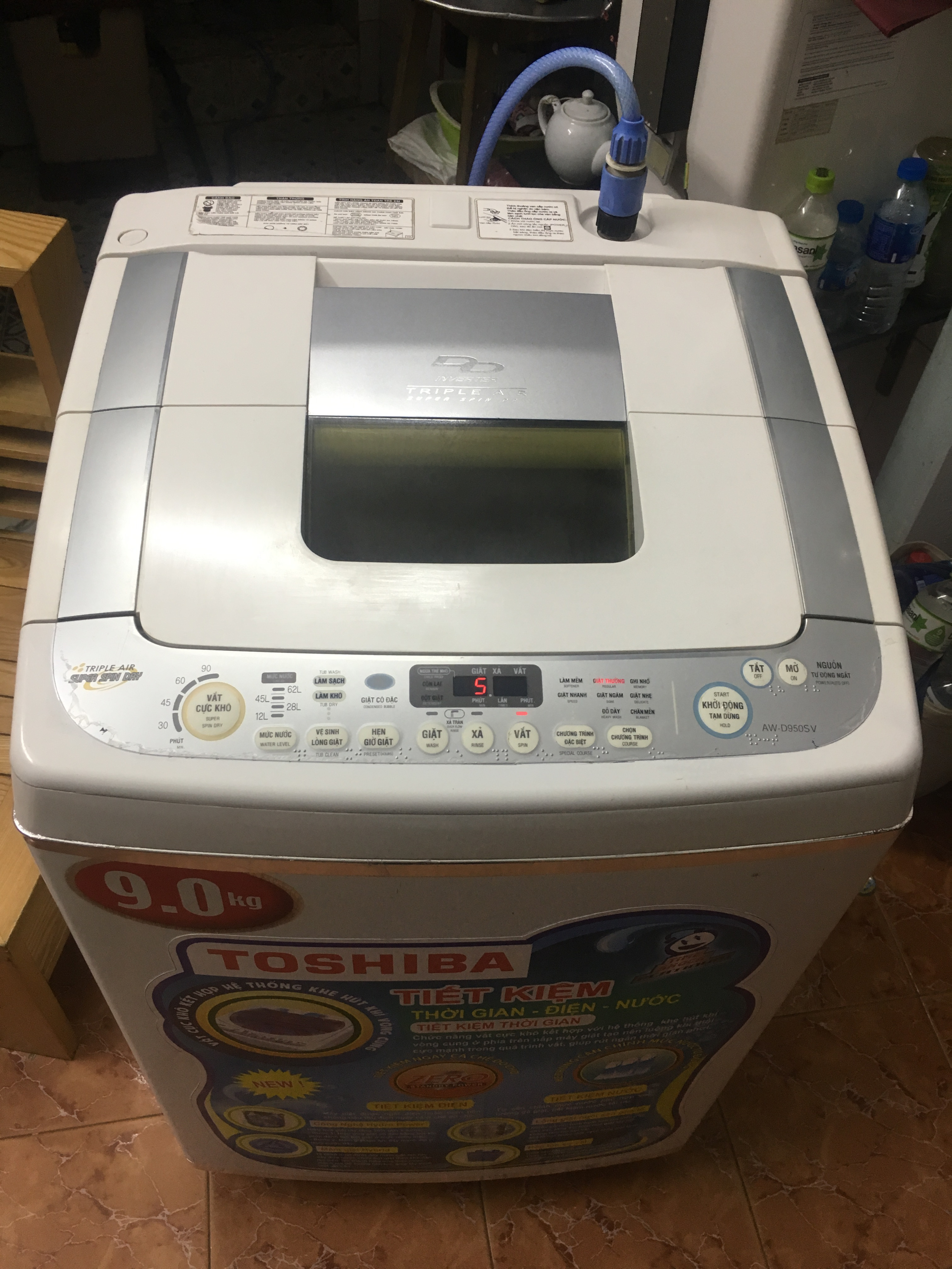 1 Máy giặt toshiba inveter 9kg giặt cực êm