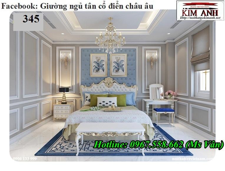 2 Giường ngủ cổ điển châu âu giá rẻ - những mẫu giường cổ điển đẹp