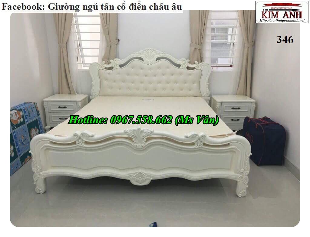3 Giường ngủ cổ điển châu âu giá rẻ - những mẫu giường cổ điển đẹp