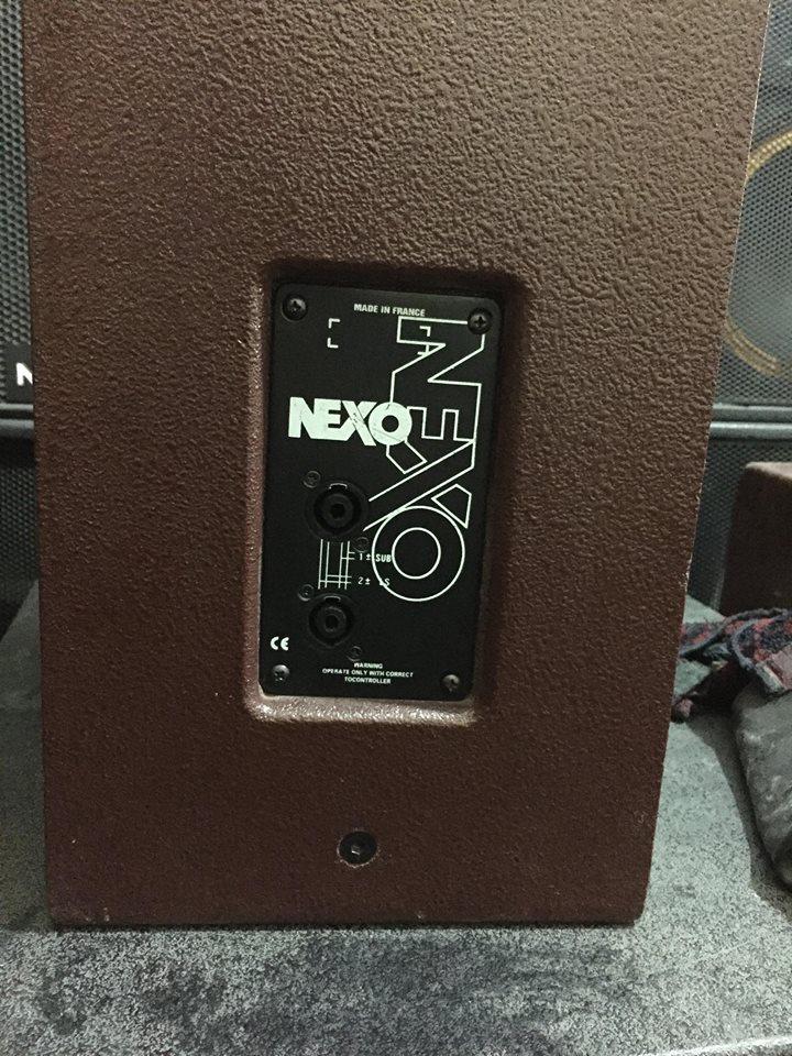 1 Bán đôi loa Nexo 2 bass 25cm hàng bãi Pháp chuyên karaoke và hội trường.