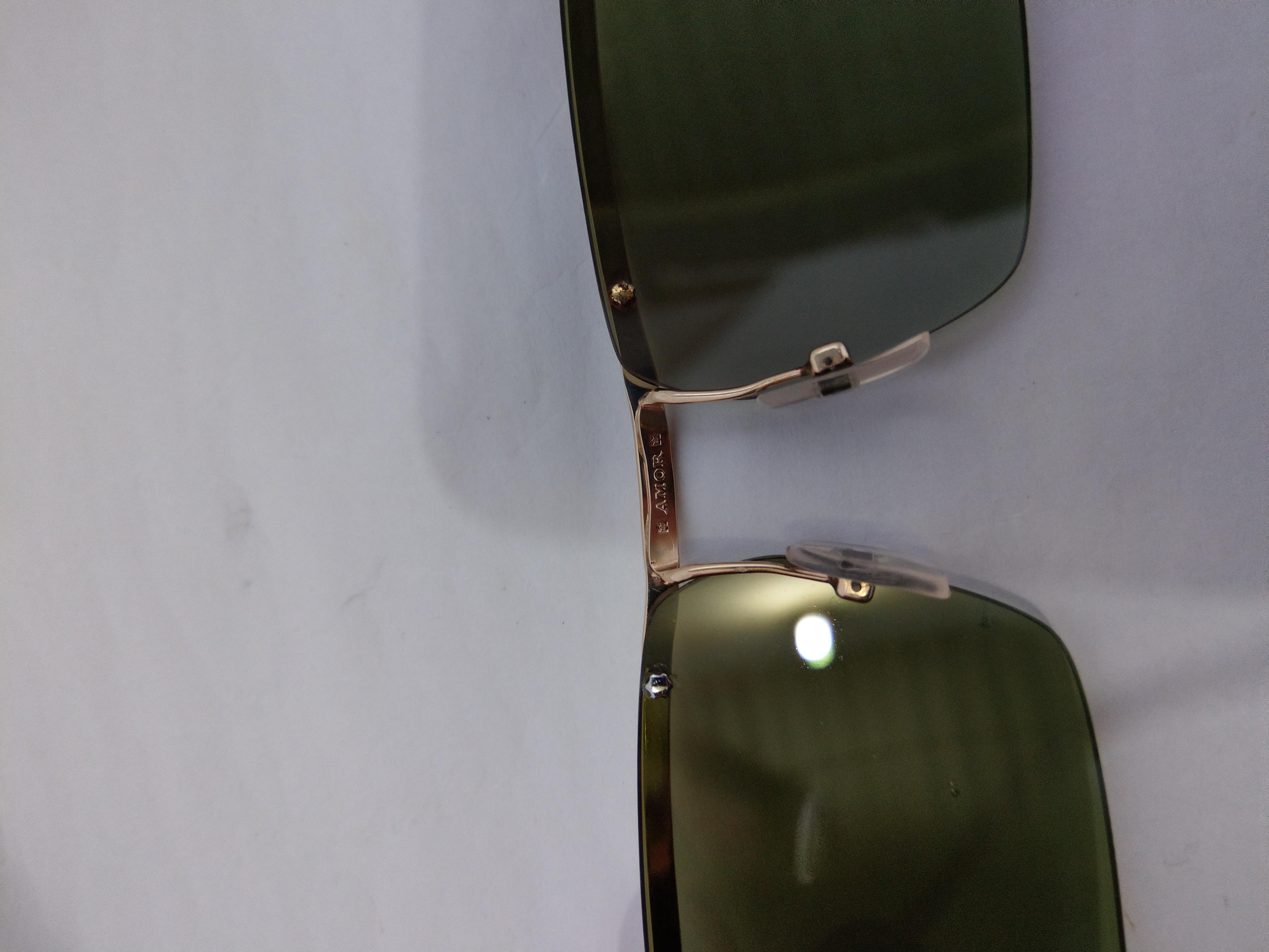 9 Giao lưu kính Amor 3 răng bản lề kép bọc 2 triện vàng đẹp lung linh của Pháp.