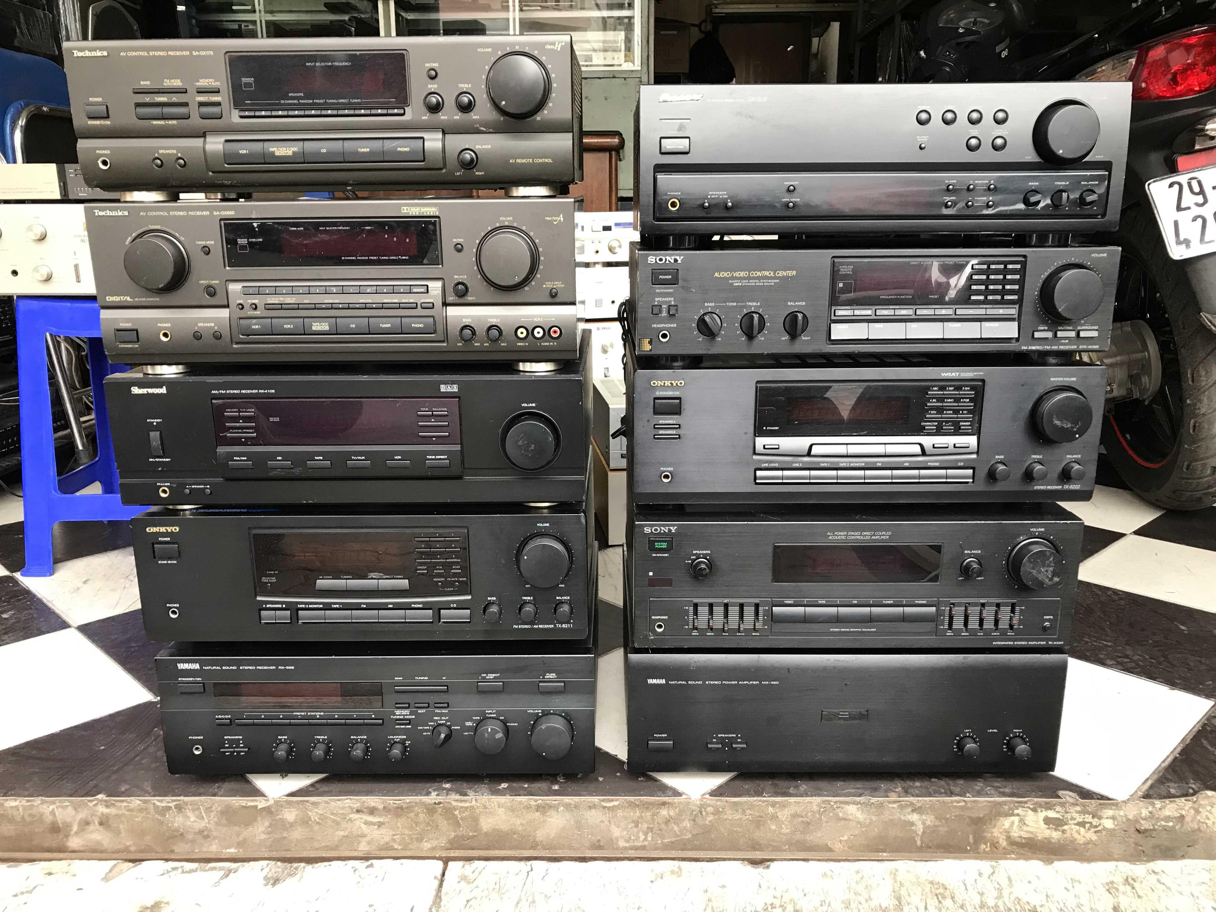 5 Bán buôn bán lẻ đồ audio bãi, md, cd, dvd, EQ, amply, loa giá tốt