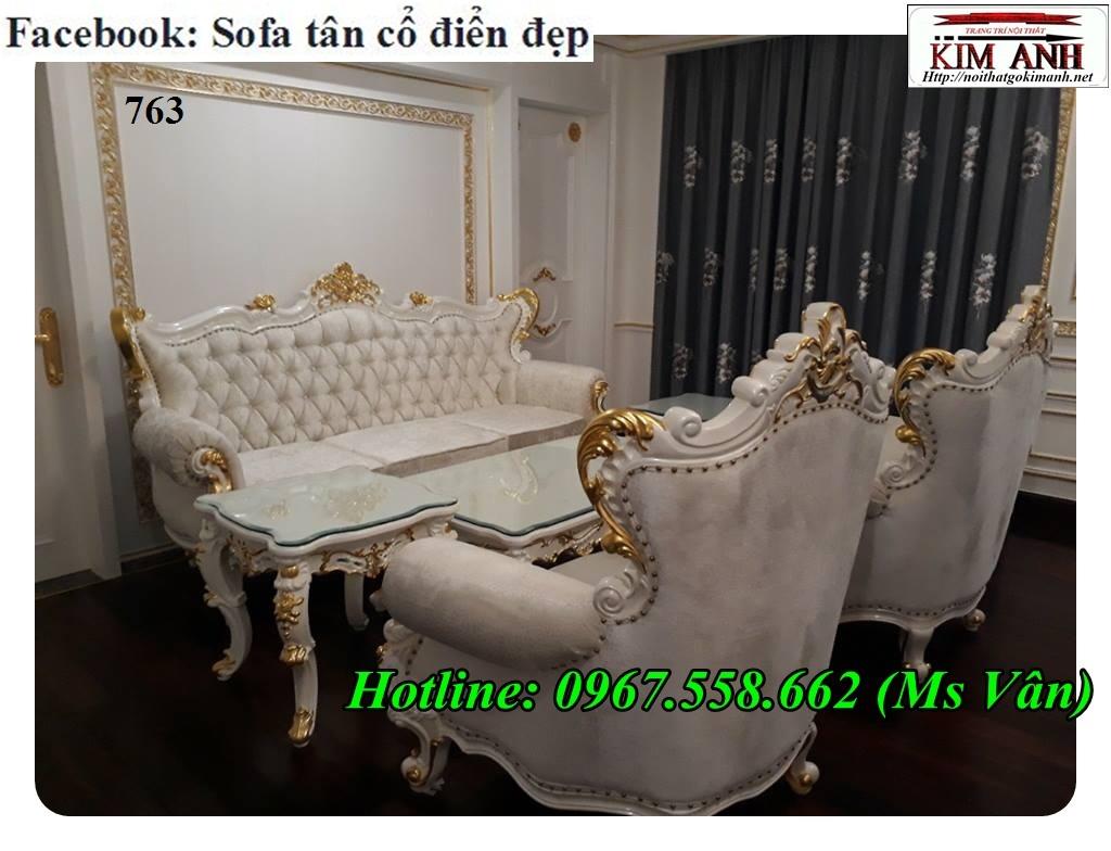 Mẫu sofa cổ điển cực sang trọng đẳng cấp đặt đóng tại xưởng