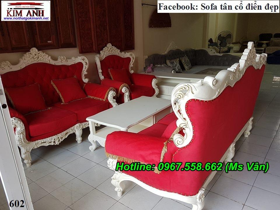 1 Mẫu sofa cổ điển cực sang trọng đẳng cấp đặt đóng tại xưởng