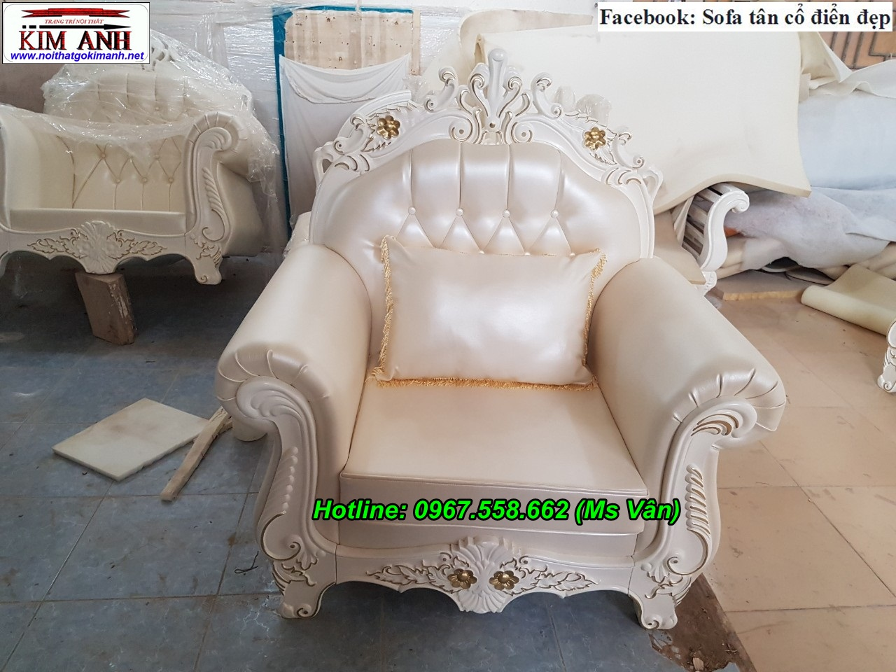 2 Thanh lý ghế sofa cổ điển giá gốc tại xưởng