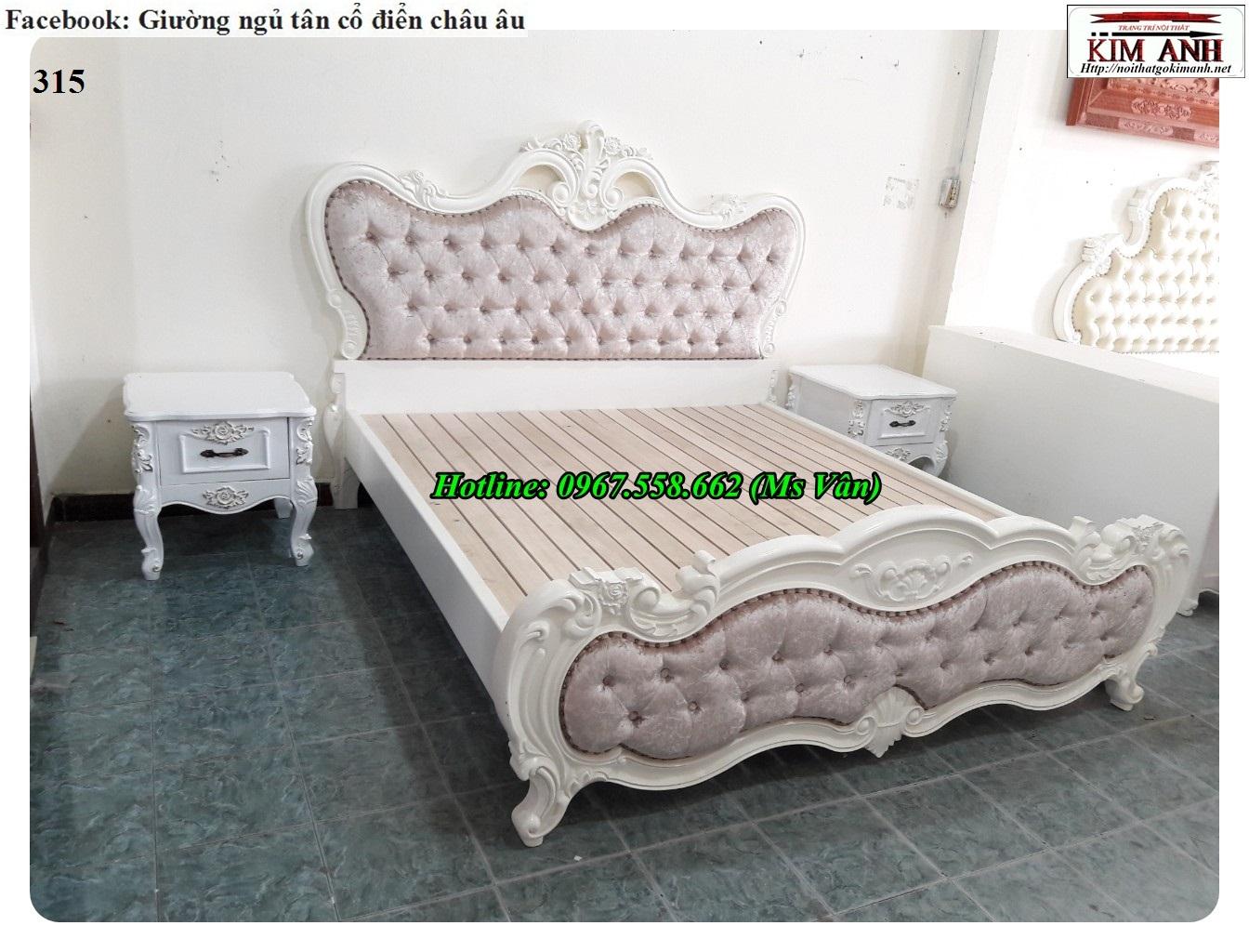 9 Bộ giường tủ màu trắng cổ điển cực đẳng cấp đặt đóng tại xưởng
