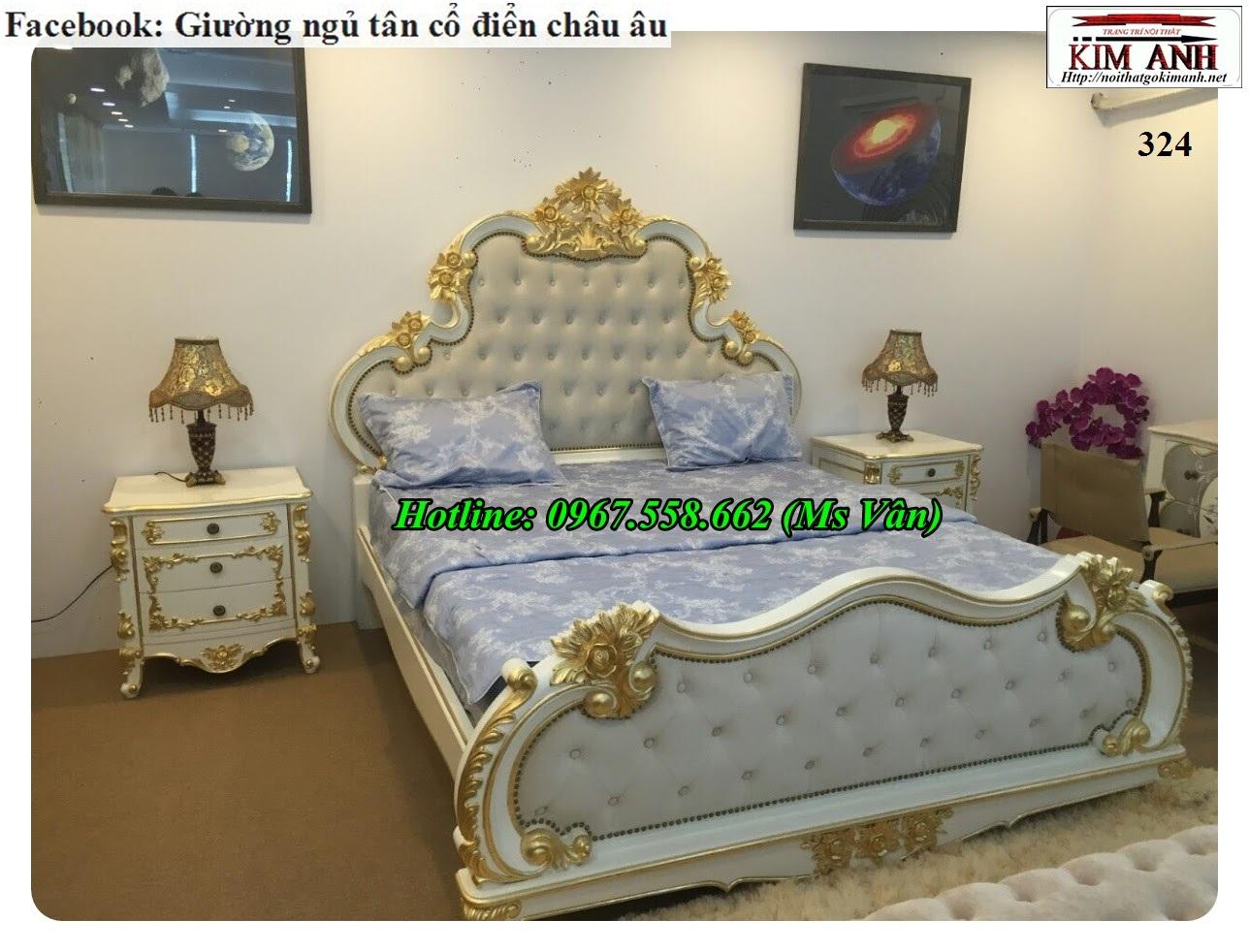 13 Bộ giường tủ màu trắng cổ điển cực đẳng cấp đặt đóng tại xưởng