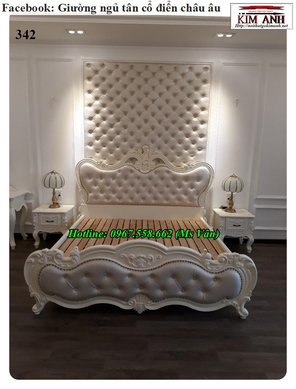 16 Bộ giường tủ màu trắng cổ điển cực đẳng cấp đặt đóng tại xưởng