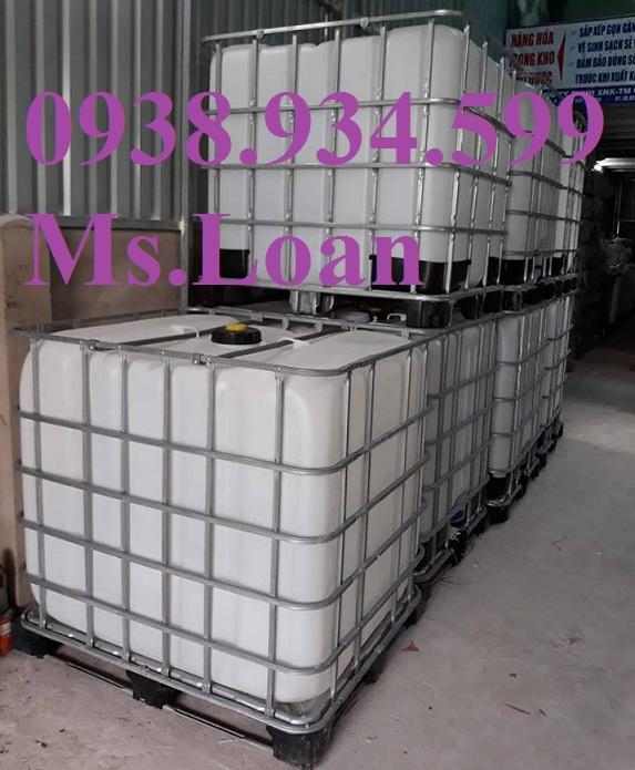 1 Thùng nhựa củ 1000 lít,tank nhựa hàng đã qua sử dụng 1000 lít