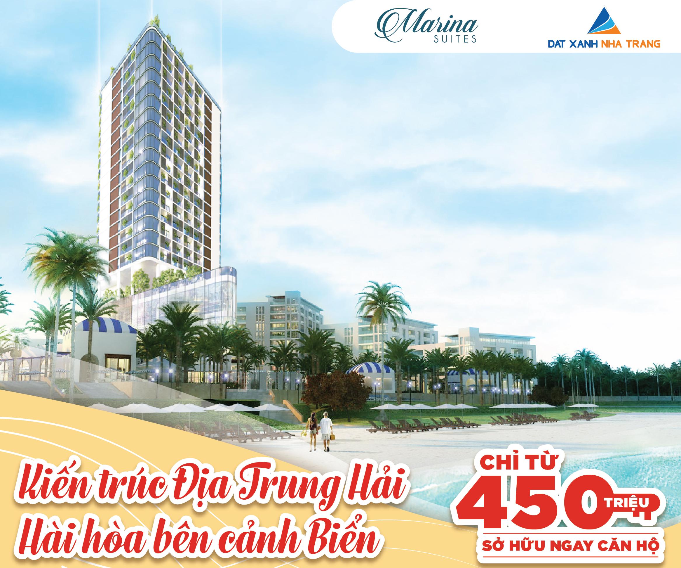 Marina Suites -Thiên đường du lịch nghĩ dưỡng Nha Trang-Chỉ 30 triệu/m2