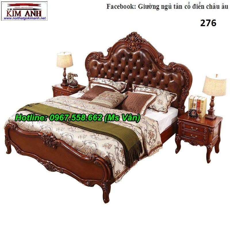 5 Top 20 bộ giường tủ gỗ tự nhiên phong cách tân cổ điển cực xinh