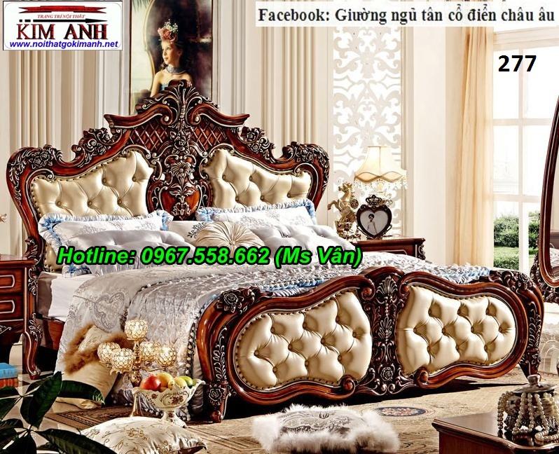 6 Top 20 bộ giường tủ gỗ tự nhiên phong cách tân cổ điển cực xinh