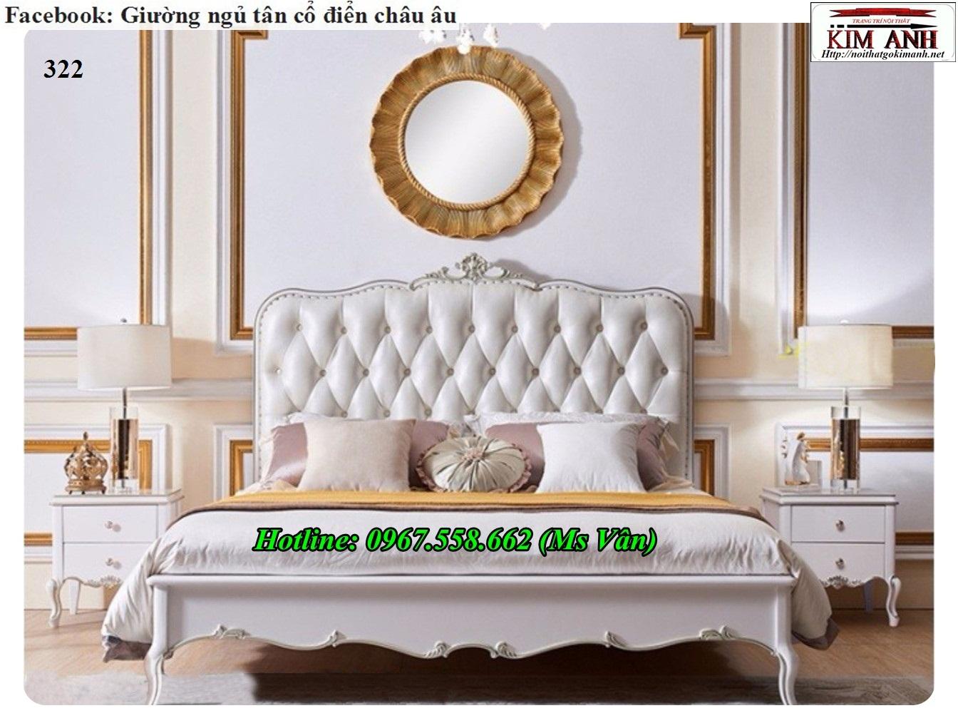 9 Top 20 bộ giường tủ gỗ tự nhiên phong cách tân cổ điển cực xinh