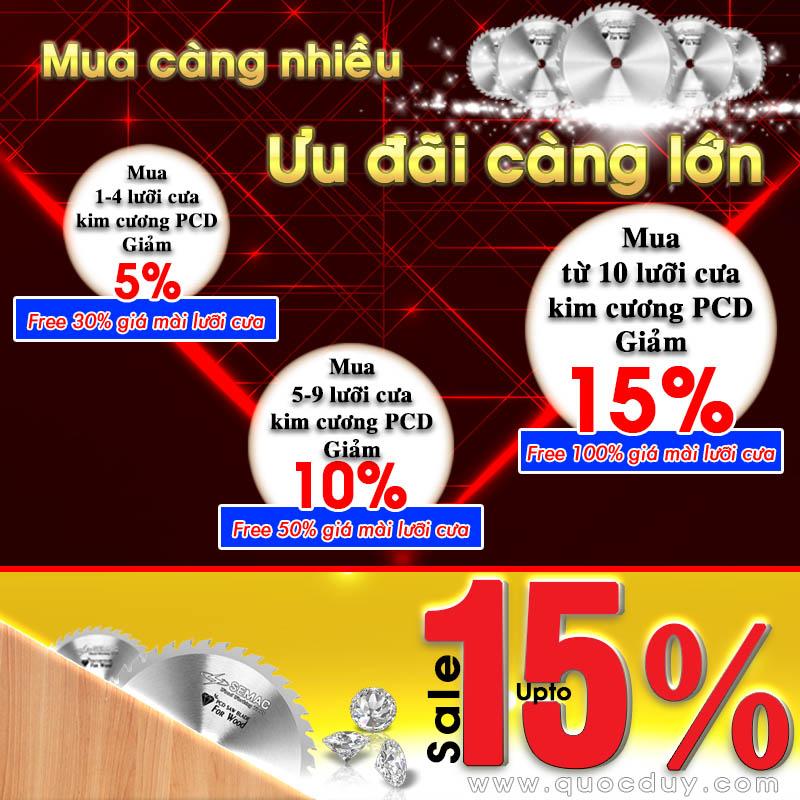 Ưu đãi cực sốc khi mua lưỡi cưa hợp kim kim cương PCD tuổi thọ trung bình cao