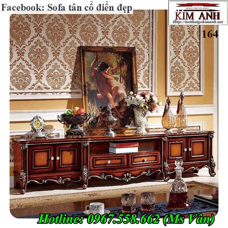 11 Top 20 mẫu kệ tivi kiểu cổ điển trang trí phòng khách đẹp