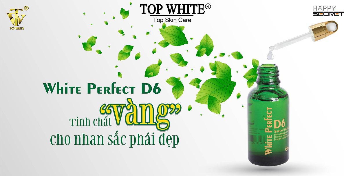 1 Serum Top White D6 Dưỡng Trắng Tái Tạo Trẻ Hóa Da Căng Mịn