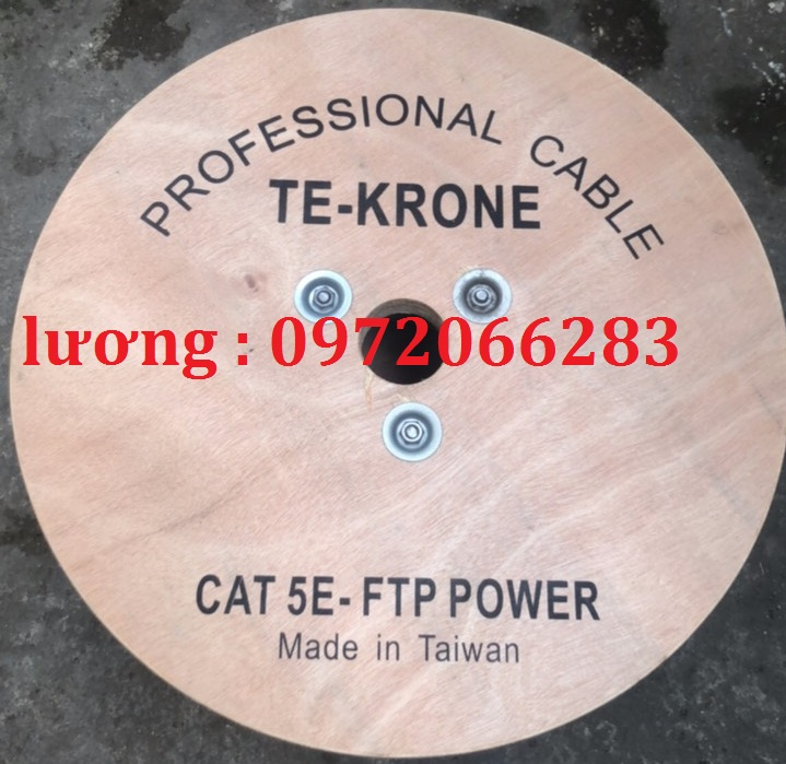 2 Cáp mạng kèm nguồn cat5e ftp   2C lõi đồng ngoài trời Te-Krone