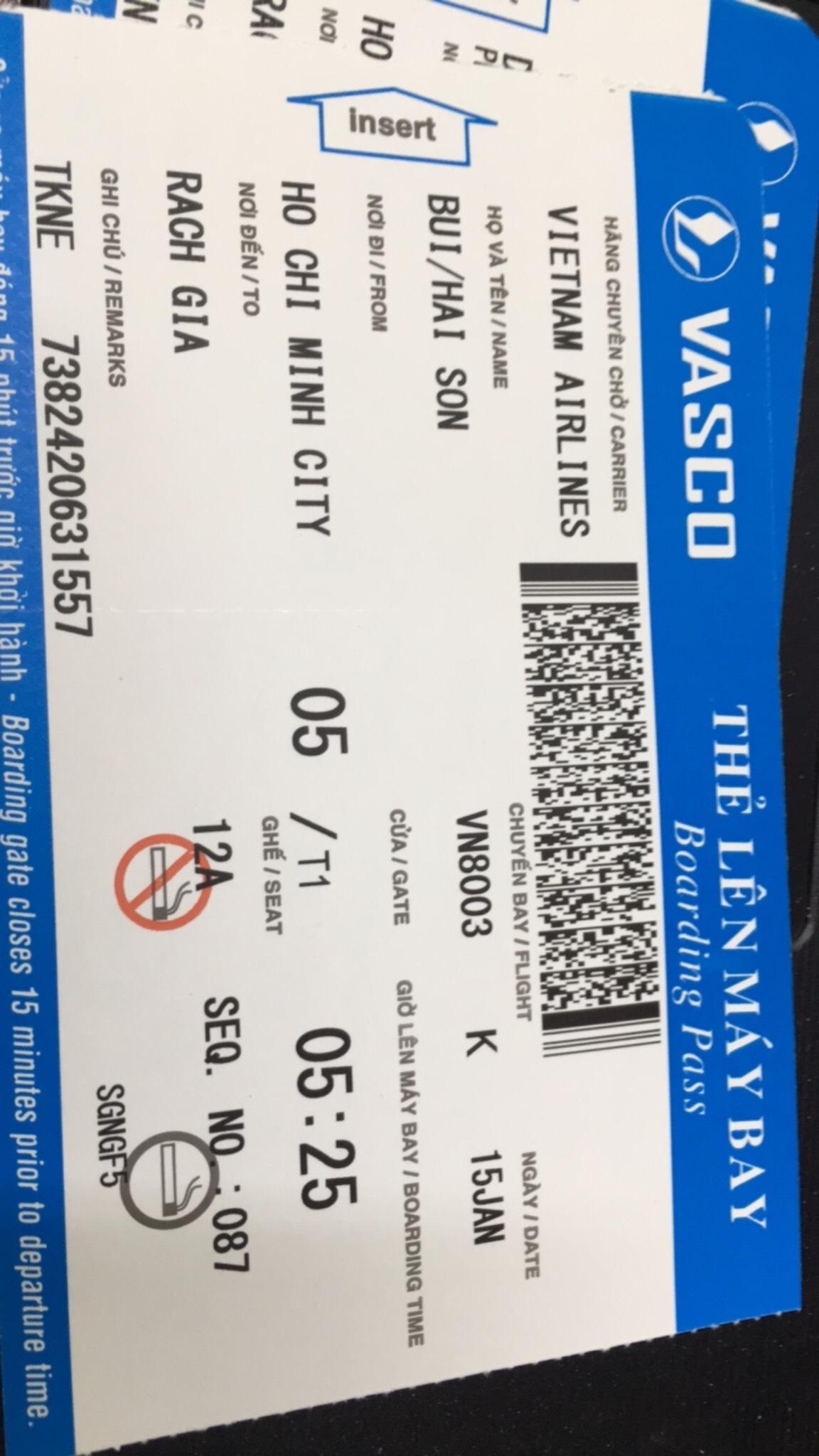 Bán cuống vé máy bay,boarding pass các hãng hàng không trong và ngoài nước
