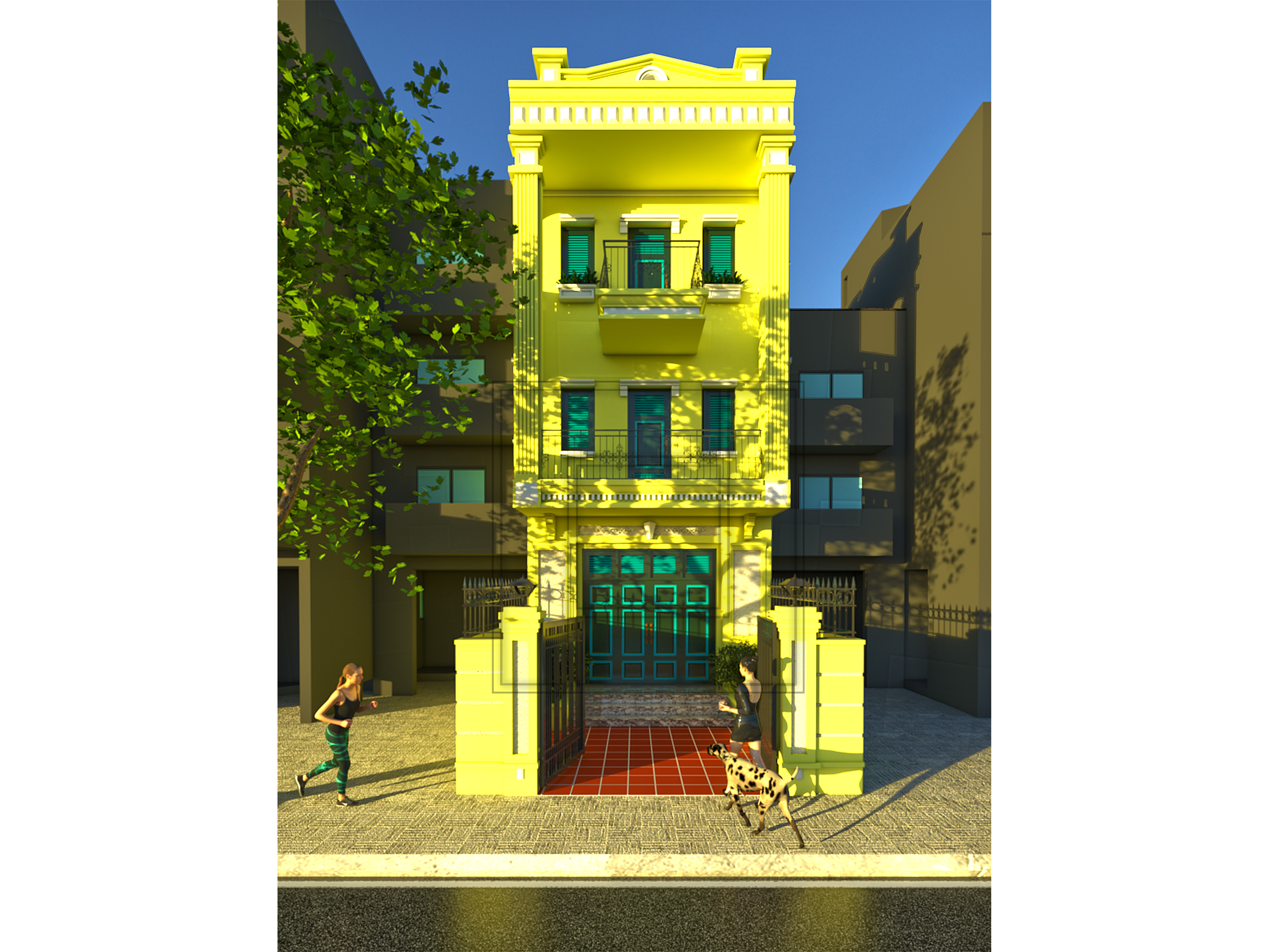 1 Thiết kế kiến trúc nhà phố chuyên nghiệp