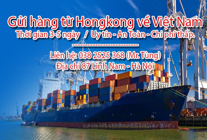 Nhận chuyển hàng từ Hong Kong về Việt Nam