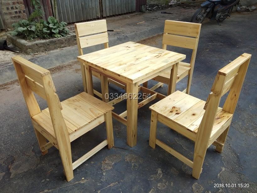 6 Bàn ghế cafe gỗ , tại hà nội , giá rẻ