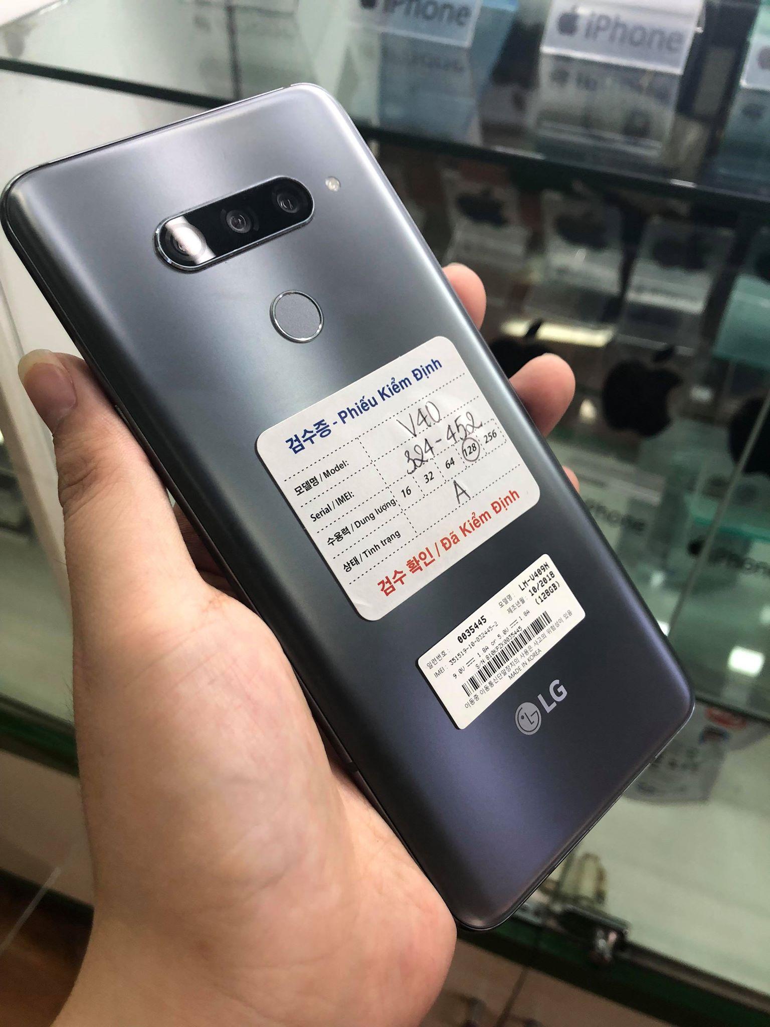 1 LG v40 xách tay Hàn Quốc  giá chỉ 5.900.000đ có trả góp bán tại Mimobile Hải Phòng