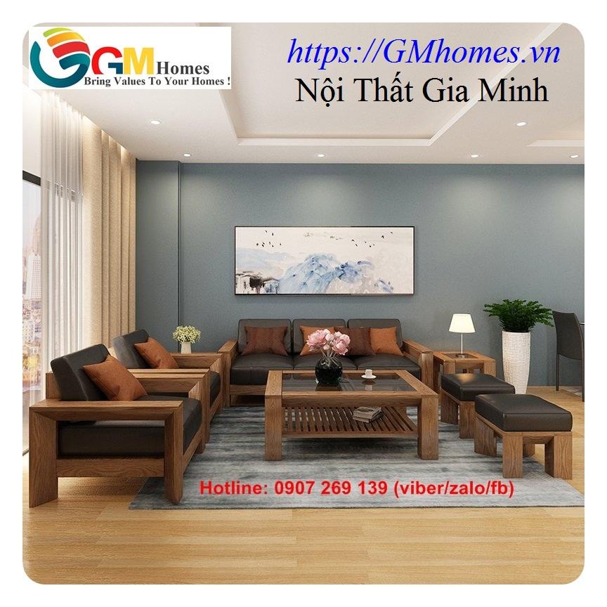12 Sofa gỗ cao cấp   mẫu bàn ghế sofa gỗ đẹp