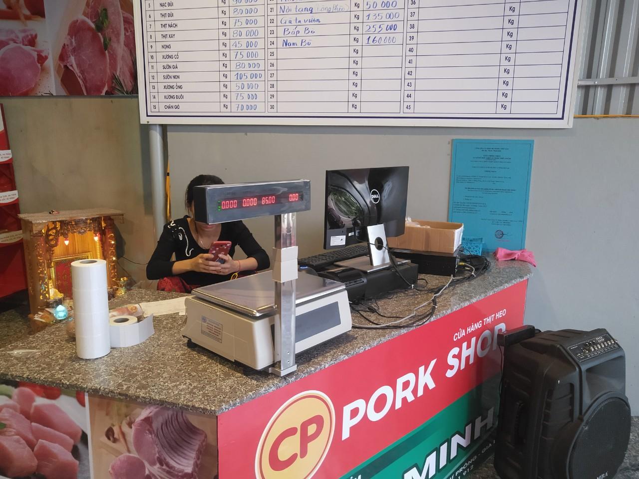 Máy tính tiền tại Nam Định cho cửa hàng thực phẩm sạch