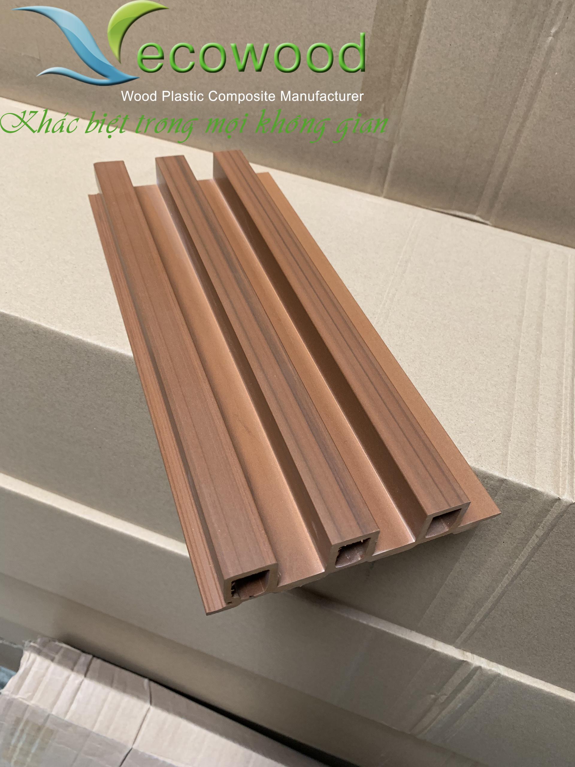 Tấm ốp tường trần gỗ nhựa mã QBO-37B hệ ốp vật liệu sinh thái