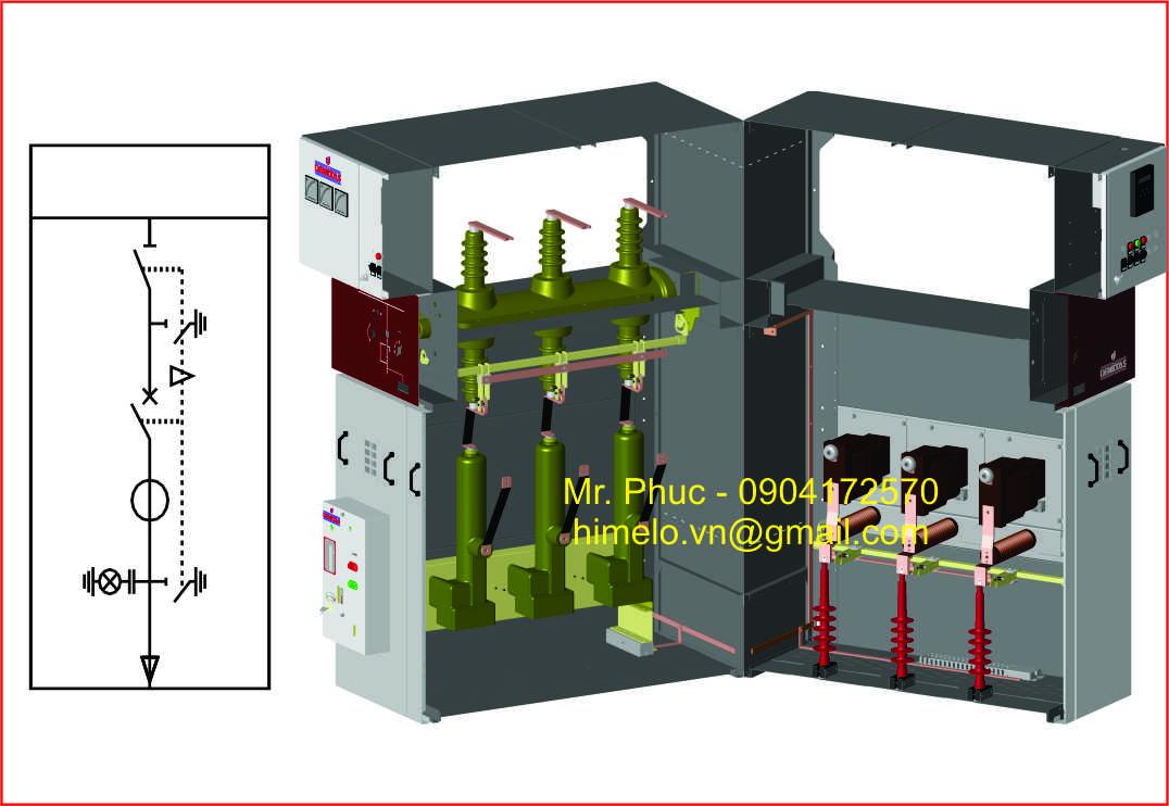 2 Tủ trung thế Aysan/tủ trung thế 24kV/tủ trung thế 40.5kV