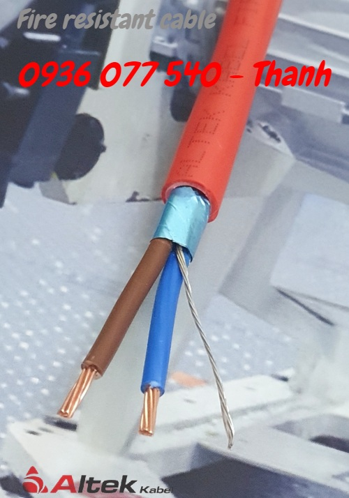 4 Cáp chống cháy 2x1.5mm - Phân phối cáp tín hiệu chống cháy Altek Kabel