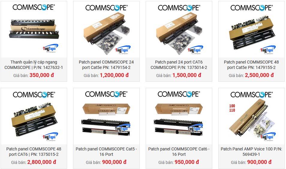 5 Chuyên cung cấp cáp mạng, phụ kiện cat5,cat6 Amp/ Commscope, Hạt mạng RJ45, Nhân Mạng ModulRack, Kim