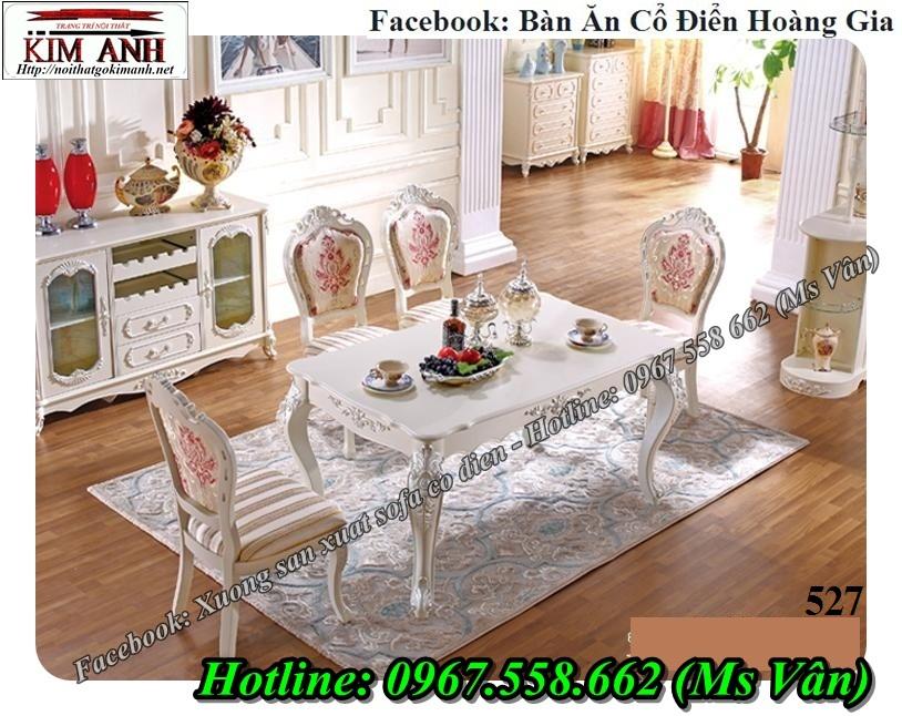 4 Mẫu bàn ăn cổ điển 10 ghế gỗ tự nhiên bền chắc đẹp ngất ngây