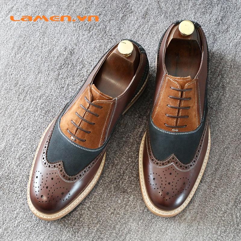 1 Giay Oxford,giày cưới,giày công sở cao cấp Lamen