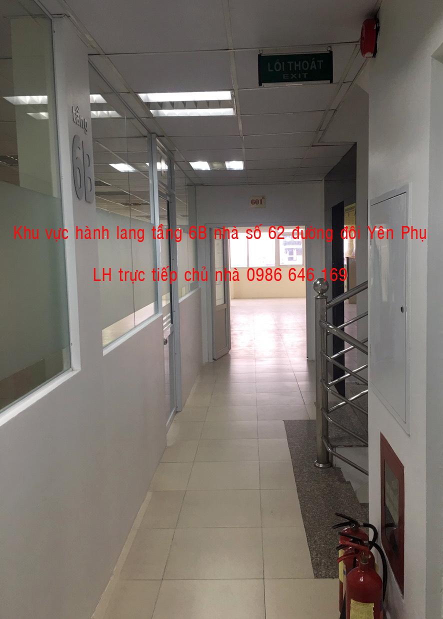 15 70 và 91m2  VP giá rẻ, DV tốt tại đường đôi Yên Phụ. LH  trực tiếp chủ nhà: 0986 646 169